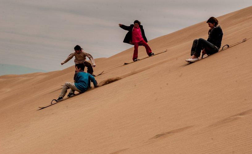 sandboarding mar de las pampas